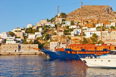 whitewash: Hydra island, Greece