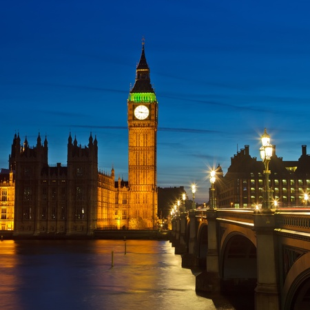 westminster: Big Ben and Houses of Parliament Stock Photo