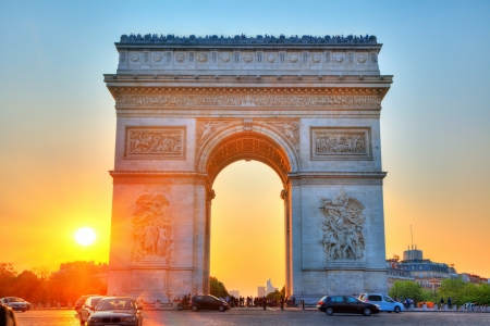 승리, 파리, 프랑스의 아치 스톡 콘텐츠 - 10243424