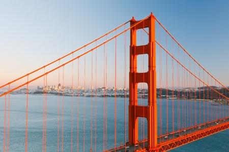 Golden Gate Bridge and Sun Francisco photo
