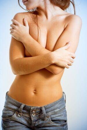 Torso of topless girl Stock Photo - 10312469