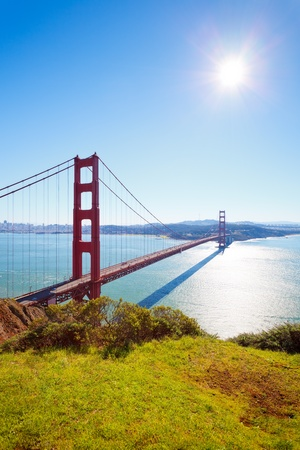 Golden Gate Bridge at sunny day