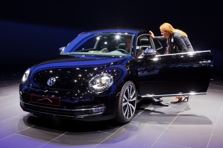 FRANKFURT - SEP 17: Volkswagen Beetle car shown at the 64th Internationale Automobil Ausstellung (IAA) on September 17, 2011 in Frankfurt, Germany. Stock Photo - 10592536