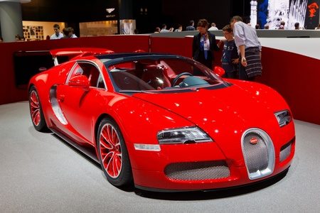 iaa: FRANKFURT - SEP 17: Bugatti Grand Sport car shown at the 64th Internationale Automobil Ausstellung (IAA) on September 17, 2011 in Frankfurt, Germany.
