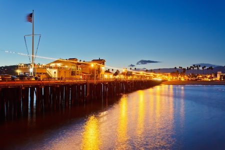 Pier in Santa Barbara at night photo