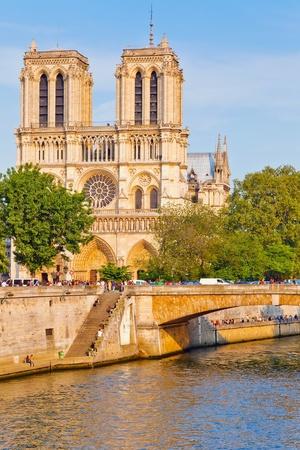 PARIS - APRIL 24: Tourists visits Notre Dame cathedral on April 24, 2011 in Paris. Notre Dame de Paris receives about 12 million visitors annually. Stock Photo - 10820431