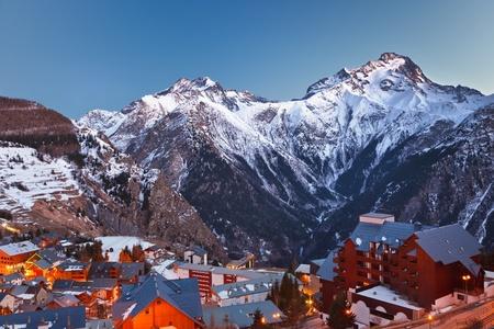 le roche: Ski resort in French Alps