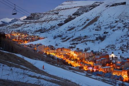 Ski resort in French Alps photo
