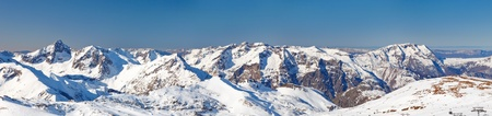 Panoramic picture of French Alps photo