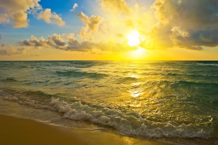 Sunrise over Atlantic ocean photo