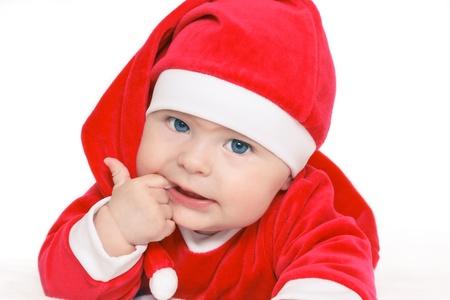Baby Santa Claus photo
