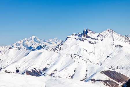 snowy mountain: Peaks of French Alps