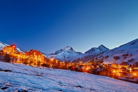 le roche: Ski resort in Alps