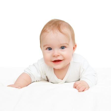 crawling baby: Crawling baby on white background