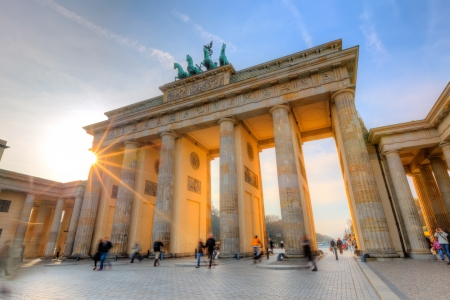 brandenburg gate: Brandenburg gate at sunset
