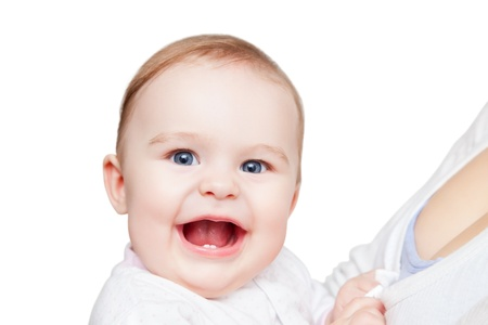 Portrait of smiling baby Stock Photo - 12787356