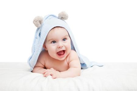 bright eyed: Cute crawling baby