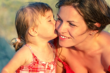 positive feelings: Mother and daughter