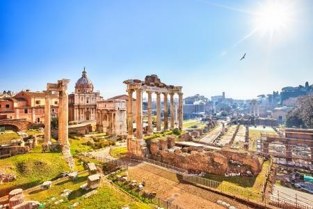 Ruines romaines à Rome, Forum Banque d'images