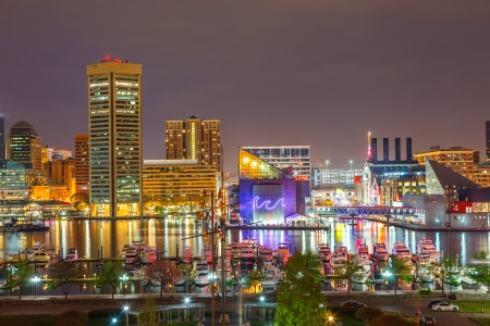 maryland: Baltimore at night
