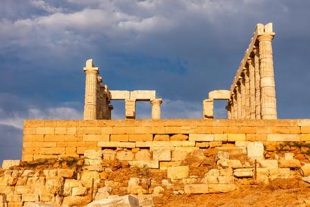 Ruins of Poseidon temple photo