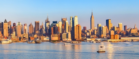 Panoramic view of Manhattan Imagens