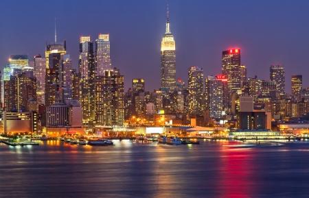 Manhattan at night Stockfoto