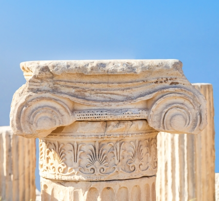 Antique greek column photo