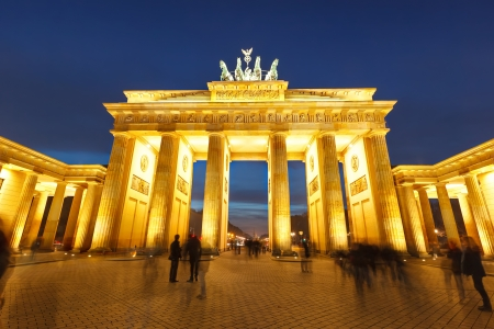 Brandenburg gate at night photo
