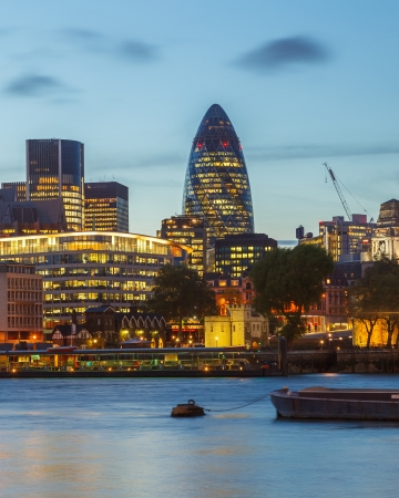 London City at night