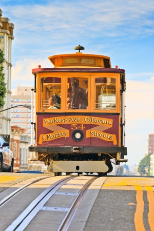 cable car: Cable car in San Francisco Editorial