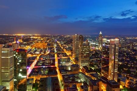 Modern city at night photo