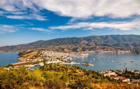 poros: Aerial view on Poros and Galatos