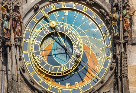 Astronomical clock on Town hall, Prague photo