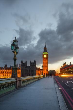 Big Ben at night, London photo