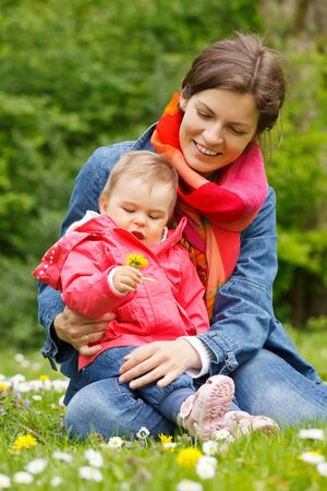 Mother with baby in the park Stock Photo - 14745995