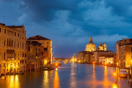 Grang canal at night, Venice photo