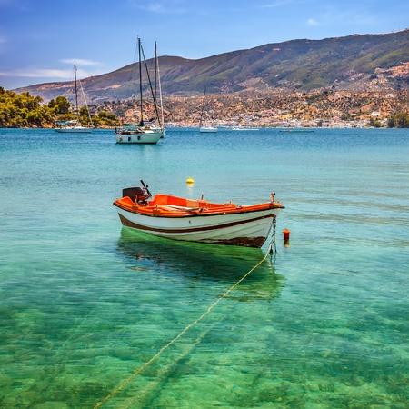 poros: Fishing boat, Greece