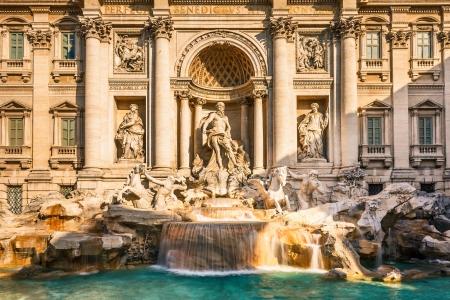 roman column: Fountain di Trevi, Rome Stock Photo