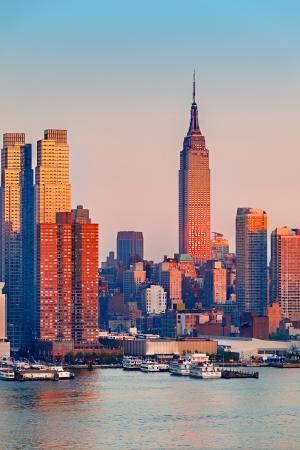 nowy: Manhattan na zachodzie słońca, New York