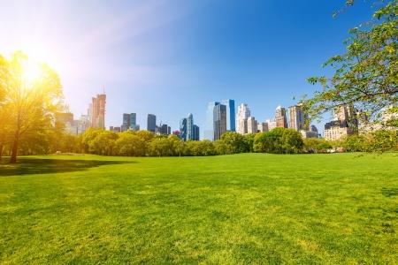 Centraal park op zonnige dag, New York Stockfoto