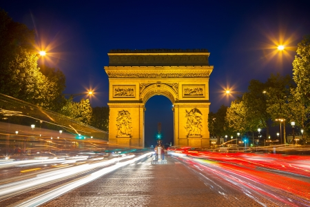 paris at night: Arch of Triumph at night