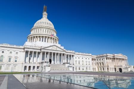 white house: US Capitol over blue sky, Washington DC