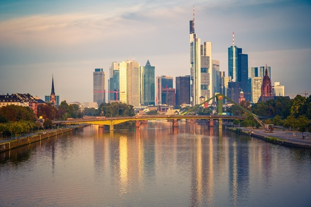 Frankfurt at morning photo