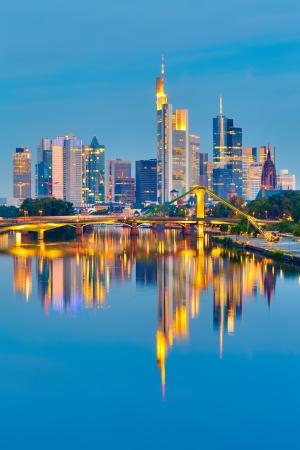 Frankfurt after sunset