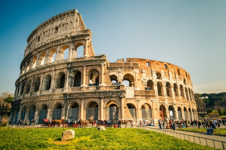 ancient rome: Coliseum in Rome Stock Photo