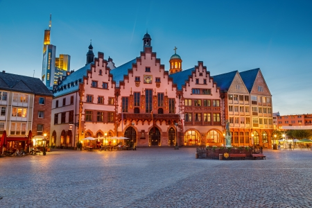 roemerberg: Historic Center of Frankfurt Stock Photo
