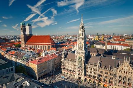 frauenkirche: Luftbild von M�nchen Lizenzfreie Bilder