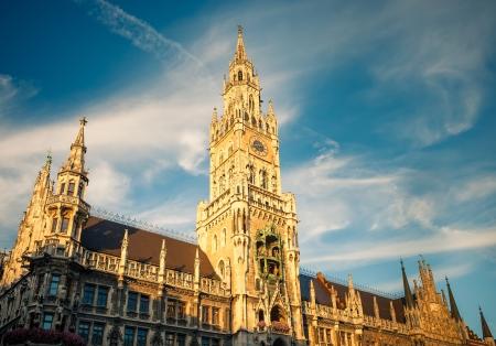 Nouvel hôtel de ville à Munich Banque d'images