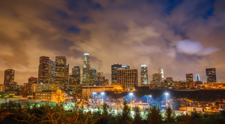 Los Angeles at night Stock Photo - 15700588
